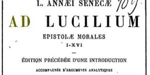 Seneca Epistulae ad Lucilium