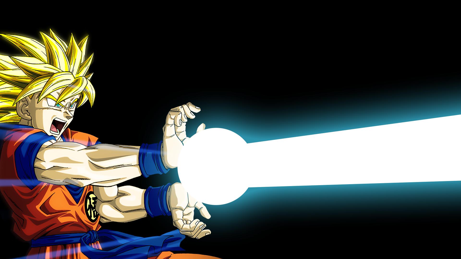Goku esegue una Kamehameha