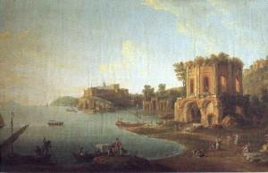 Tempio di Venere e Castello di Baia (immagine antica)