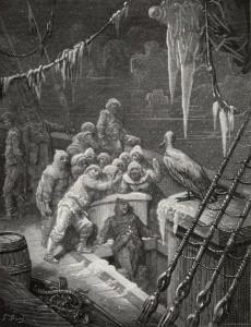 L'albatros e i marinai, illustrazione di Gustave Doré