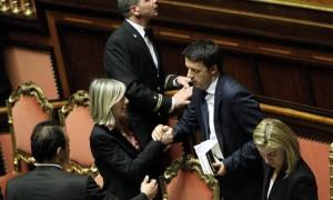 Il premier Renzi e il ministro dell'Istruzione Giannini