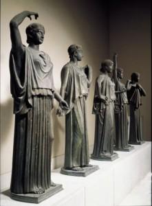 Statue rinvenute in Villa dei Papiri