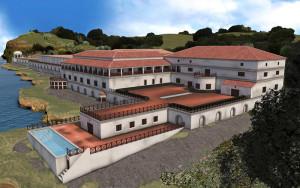 Ricostruzione ideale della Villa dei Papiri