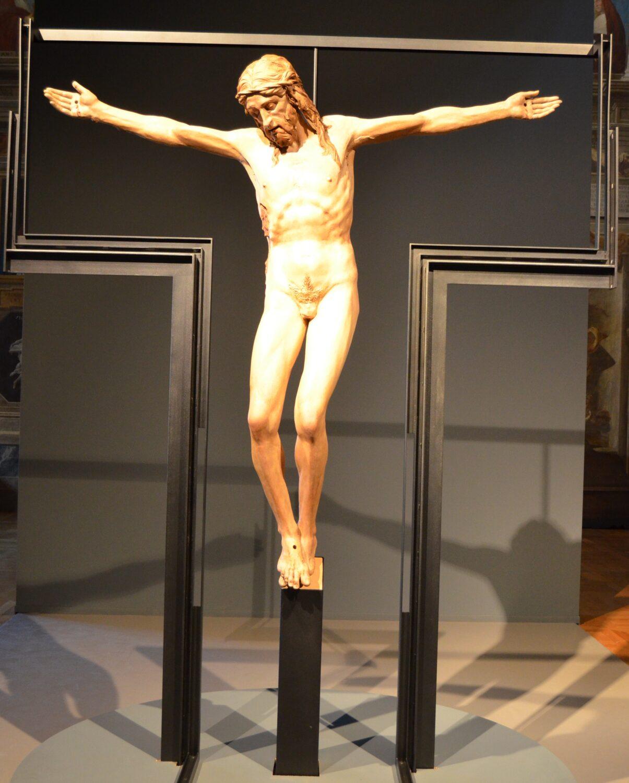 Donatello, Crocifisso ,legno di pioppo, 1440-45,  chiesa di Santa Maria  dei Servi, Padova foto Liberato Schettino