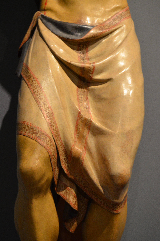 Donatello, Crocifisso (particolare), 1408-09 ca., legno di pero, Basilica di Santa Croce, Firenze