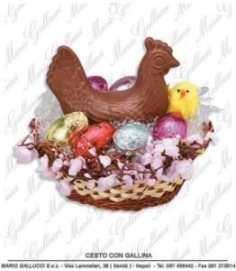 uova di cioccolato Pasqua Napoli gallina