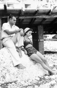 Elsa Morante con Alberto Moravia (suo compagno)