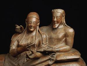 Famoso sarcofago etrusco (Roma)