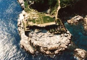 Villa di Pollio Felice e Bagni della Regina Giovanna (vista dall'alto)