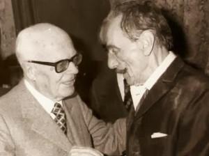 Eduardo De Filippo e Sandro Pertini