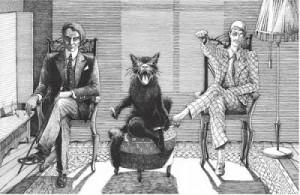 Woland, il gatto parlante Behemot e il bizzarro Korov'ev