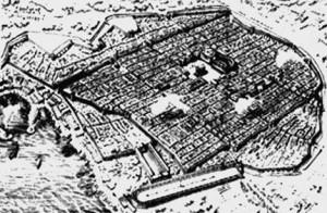 Pianta delle antiche mura della città di Napoli (mura greche)