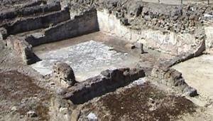 Una parte dell'impianto termale traianeo (Sibari)