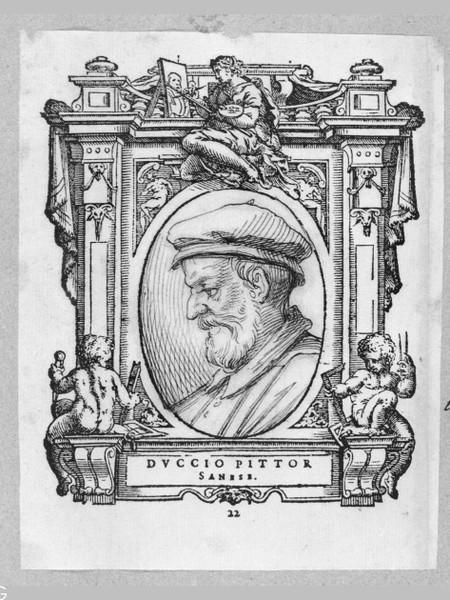 Ritratto Duccio Madonna Rucellai