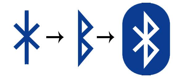 Le due rune che formano le iniziali del re Harald, la H e la B, sovrapposte creano il simbolo del bluetooth