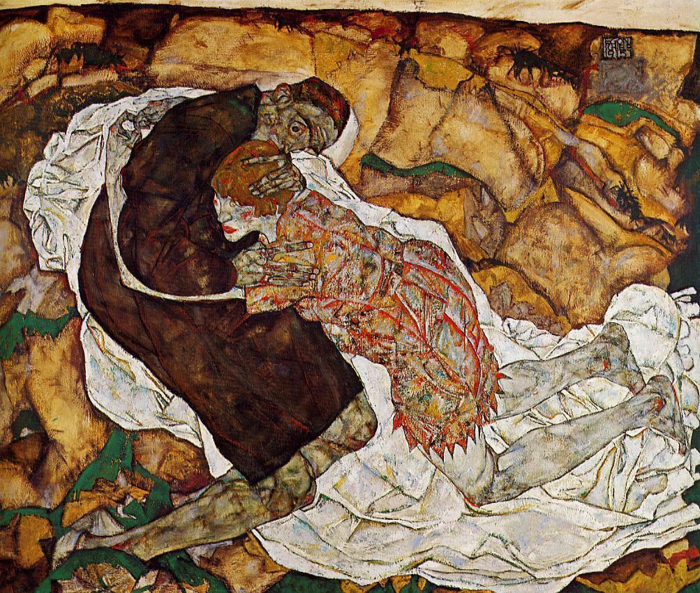 Egon Schiele, Morte e ragazza, 1915-16