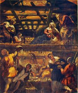 Tintoretto, Adorazione dei pastori, 1564-1587, Scuola Grande di San Rocco, Venezia