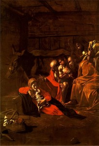 Caravaggio, Adorazione dei pastori, 1609, olio su tela, Museo Regionale di Messina