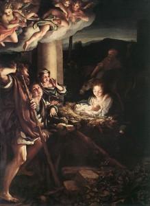 Correggio, Adorazione dei Pastori, 1525-1530, olio su tavola, Gemäldegalerie, Dresda