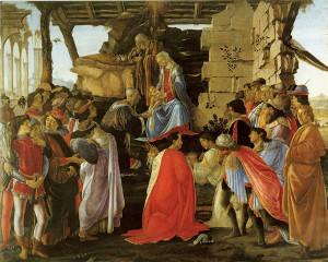 Sandro Botticelli, l'Adorazione dei Magi, 1475, tempera su tavola, Galleria degli Uffizi, Firenze