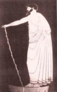Rapsodo, anfora attica attribuita al pittore di Kleophrades, ca. 480 a.C.