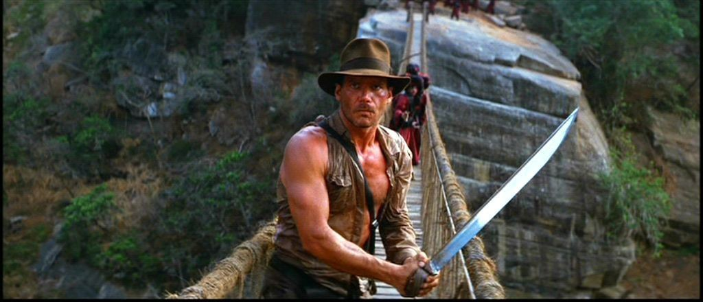 Harrison Ford nei panni del docente-archeologo Indiana Jones