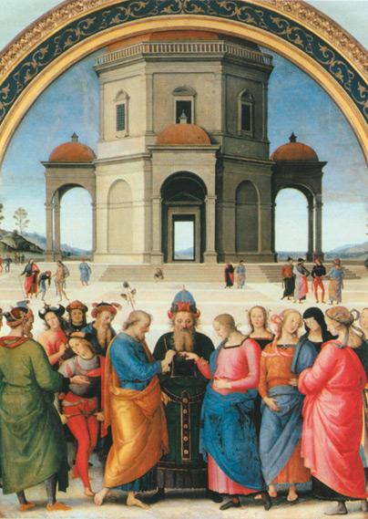 Pietro Perugino Lo Sposalizio della Vergine 2