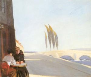 Edward Hopper, Le bistro Or The Wine Shop, 1909 Olio su tela New York, Whitney Museum of Modern Art.