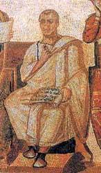 Virgilio ritratto in un mosaico romano Orfeo ed Euridice