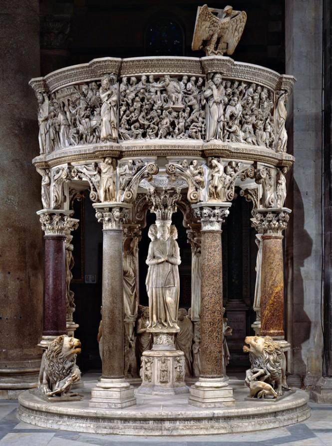 """Nicola Pisano: il """"moderno classicismo"""" del Pulpito del battistero di Pisa"""
