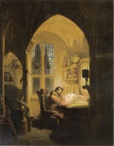 Faust nel suo studio