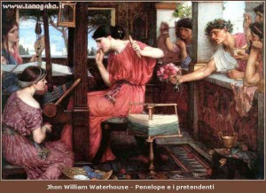 Jhon William Waterhouse - Penelope e i pretendenti