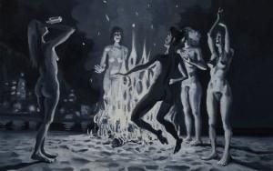 Alessandro Bazan, Le studentesse americane, 2013 Olio su tela, 70x100 Fonte: http://www.balarm.it/