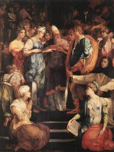 Rosso Fiorentino, Sposalizio della Vergine e Santi, 1523, olio su tavola, Basilica Di San Lorenzo, Firenze
