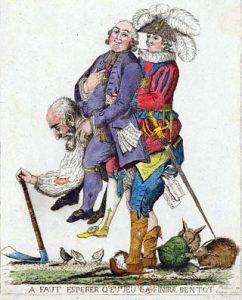 Rappresentazione satirica dell'Ancien Régime