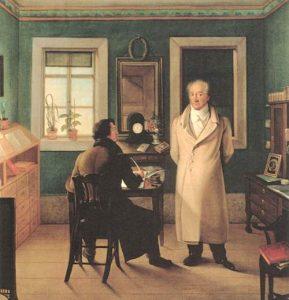 Goethe nel suo studio.