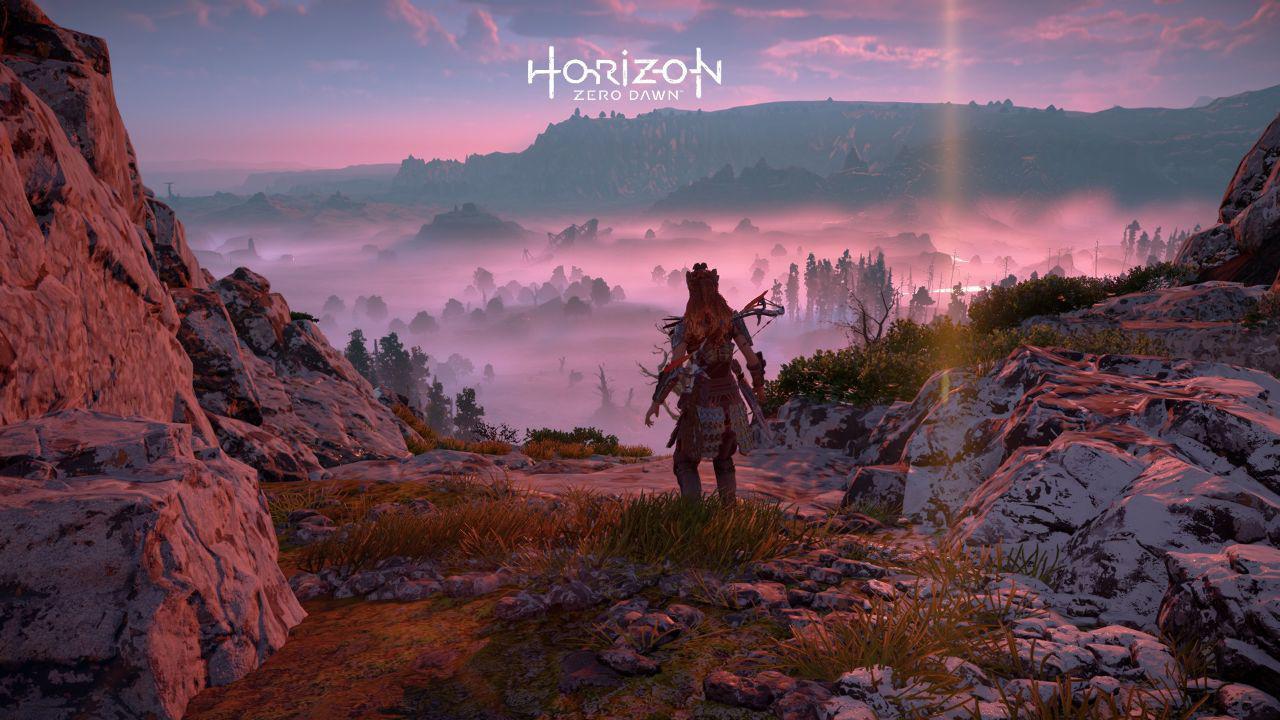 Horizon Zero Dawn - scorci pastello della mappa di gioco