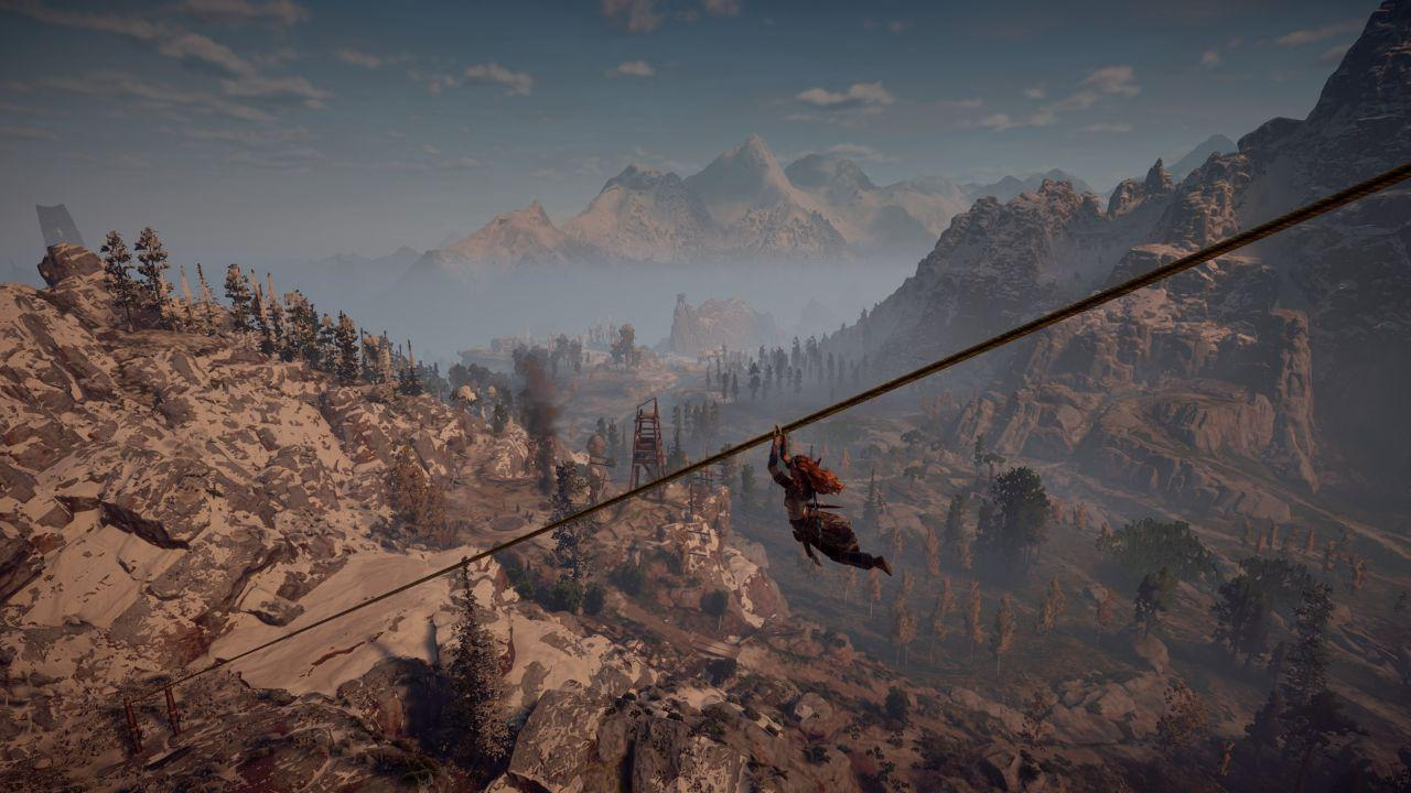 Horizon Zero Dawn rope descender