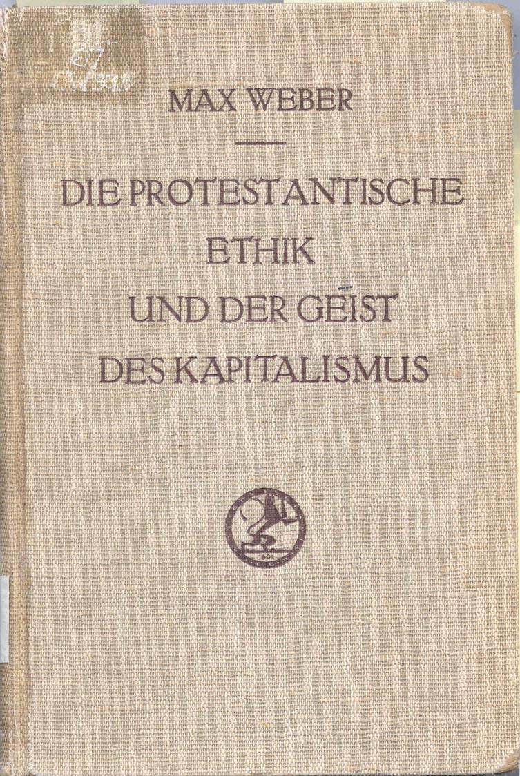 Weber, L'etica protestante