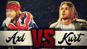 Un'esplicativa immagine dello scontro tra hair metal e grunge