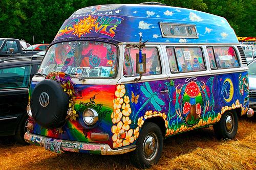 Psichedelia pulmino Volkswagen Hippie