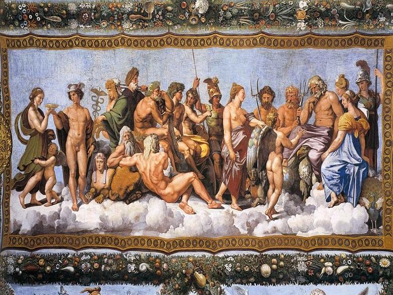 Mitologia mitologema Raffaello concilio degli dei