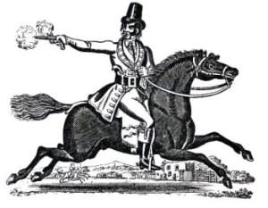 """raffigurazione di un """"highwayman"""" l'opera del mendicante"""