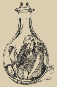 Il povero Anselmo intrappolato in un'ampolla Il vaso d'oro