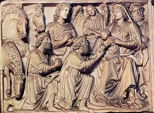 Pulpito del Battistero di Pisa Nicola Pisano dettaglio
