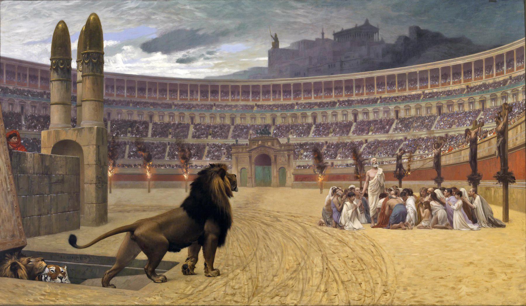 Persecuzione Cristiani Antica Roma Pagana Jean-Léon Gérôme