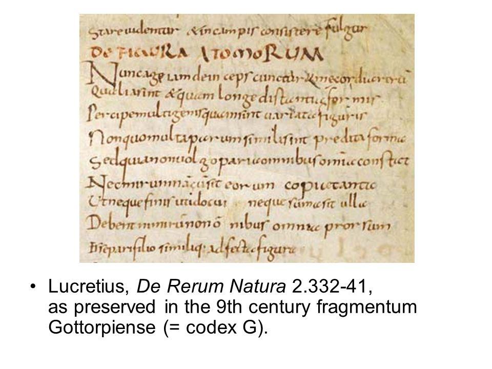 Lucrezio De rerum natura