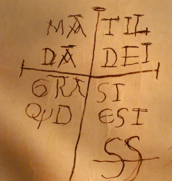 Firma autografa di Matilde di Canossa