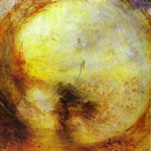 La mattina dopo il diluvio di William Turner rappresenta un ulteriore esempio di pittura romantica, quella più vicina alla tematizzazione filosofica dell'Assoluto e dell'arte compiuta dall' idealismo estetico di Schelling.