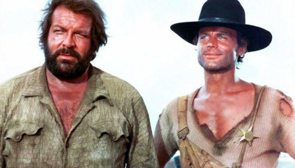 """Bud Spencer e Terence Hill in una scena de """"Lo chiamavano Trinità"""""""